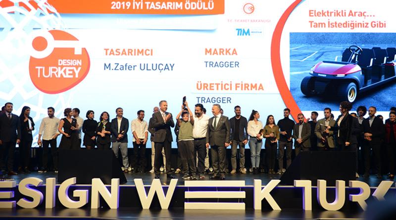 Milli ve Yerli Yüzde 100 Elektrikli Yeni Nesil Hizmet Aracı TRAGGER T-Car'a Design Turkey'de İyi Tasarım Ödülü