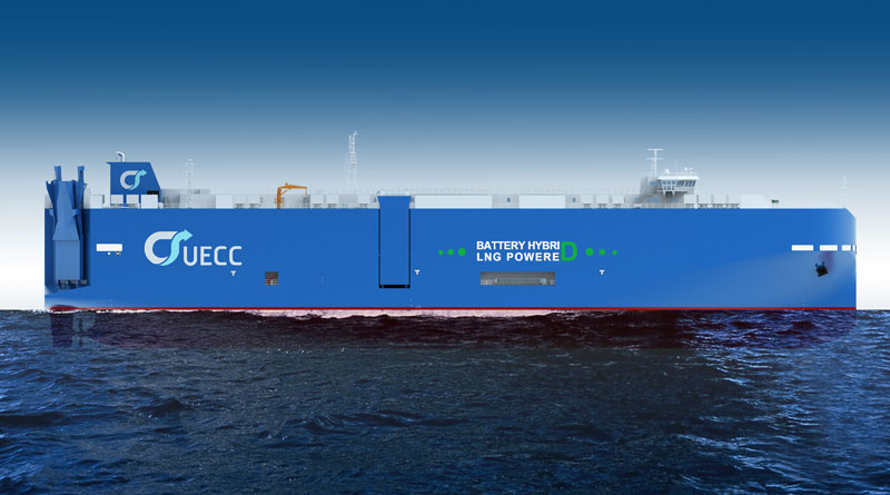 Steel cutting for UECC's second LNG Battery Hybrid Powered PCTC